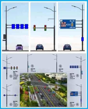 多功能交通组合杆|智慧合杆